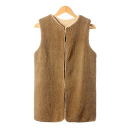 Wholesale Sexy Faux Fur Coat - Wholesale- 2016 Autumn new winter faux fur vest in imitation fox fur coat vest sztuczne futro Piel de zorro wholesale