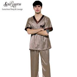 Wholesale Man Sleeping Pants - DZ01--DZ09 * Mens Pajama Set 2017 Summer Brand Design Luxury Men Leisure 2 Pcs Pajamas Pants Home Suit Clothing Sleep Lounge TZ165