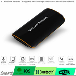 Wholesale Bt Car Audio - 10pcs Universal B2 Wireless Car Bluetooth Receiver Adapter 3.5MM AUX Audio Stereo BT 4.1 Music Receiver Bluetooth Audio Adapter