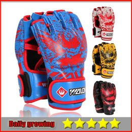 Wholesale Punching Bag Gloves - Professional Punching Gloves Punching Bags PU Leather Muay Thai Training Grappling Gloves Boxing Glove For Training