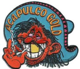 2019 rote augenbekleidung ACAPULCO GOLD MR Rote Augen Rockability Motorradjacke Weste Moral Biker Patch Stickerei für Kleidung Jeans Tasche Dekoration Eisen auf Patch rabatt rote augenbekleidung