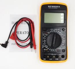 Wholesale Digital Multimeter Large Lcd - Wholesale-LCD digital Multimeter voltmeter ammeter DC AC Voltage Current Resistance temperatureTester With test pen Large-screen display