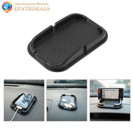 Wholesale Mobile Phone Holder Stand Rubber - Wholesale- 2pcs! Universal Auto Car Anti Slip Pad Rubber Mobile Sticky Stick Dashboard Phone Mount Holder Antislip Mat For GPS MP3 Stand