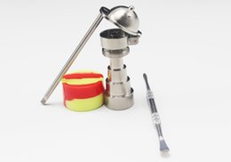 Wholesale Male Bucket Hats - Bong tool set Universal 6 in 1 titanium nail with baseball hat carb cap 10mm 14mm 18mm adjustable male or female Honey Bucket