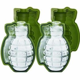 Wholesale Silicone Ice Cube Maker - 3D Grenade Shape Ice Cube Mold Creative Silicone Ice Molds Kitchen Bar Tool gift Ice Cream Maker Trays Mold In Stock TY7-13