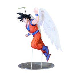 Wholesale Action Figure Anime Resin - Zxz 16Cm Japanese Anime Figure Toys Dragon Ball Z Action Figure Angel Son Goku Figures Doll Pvc Model Kids Toy
