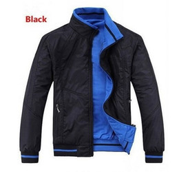 Wholesale Double Zipper Coat - New 2016 spring and autumn period and the Double Jacket for BM fashion casual Coat Jackets men Sportswear