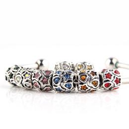 Wholesale Wholesale Jewelry Spike Bracelet - By DHL 120PCS Wholesale Silver Double Sided Zircon European Charms Beads for Pandora Bracelets DIY Jewelry