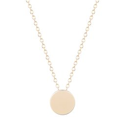 Wholesale 18k Gold Best Friends Pendant - 10pcs lot Simple Smooth Round Circle Necklaces & Pendants with Chain Statement Jewelry Collares Best Friend Gift My Orders