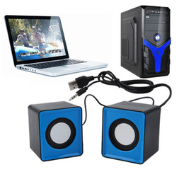 Wholesale Speakers For Desktop Computers - Wholesale- Dpower Portable Mini USB 2.0 speakers Music Stereo for computer Desktop PC Laptop Notebook Home Theater Party Loudspeaker HOT
