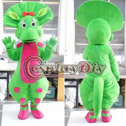 2019 trajes mascotes caráter Atacado-Fantasia Barney Verde Traje Da Mascote Do Personagem Dos Desenhos Animados Do Traje Da Mascote Custom Made trajes mascotes caráter barato