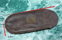 Couteau de poche en cuir en Ligne-2 pcs / Lot Fait à la main 100% véritable gaine en cuir pochette pour couteau pliant couteau de poche couteau gentilhomme comme Sebenza Whaleshark