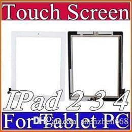 2019 placa auo Painel de vidro da tela de toque do OEM com o adesivo dos botões do digitador para o iPad 2 3 4 preto e branco A-TP