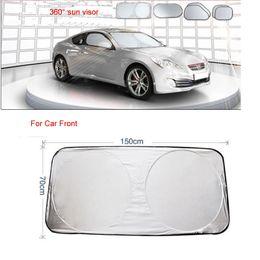 Wholesale Car Rear Window Sunshade - 6pcs Windshield Sunshades Sun Protector Car Hippo Window Shades Included with 1pcs front shade & 1pcs rear window shades &4pcs side shades