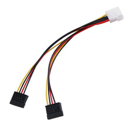 Wholesale Laptop Power Pin - Serial ATA SATA 4 Pin IDE Molex to 2 of 15 Pin HDD Power Adapter Cable Hot Worldwide