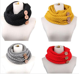 Wholesale Tie Kerchief - High Quality knitting Ring embroidering Pashmina kerchief Winter Scarf Women Big Size Scarves Pashmina Infinity Scarf Keep warm lace