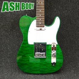 Wholesale Emerald Strings - 1964 Emerald Green Transparent Tele Electric Guitars China Guitarras free shipping