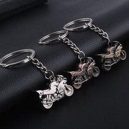 Wholesale Fairy Stone Jewelry - 3D Metal Model Motorcycle Keychain Mini Motor Pendant Keyring Men Accessorie Llavero Chaveiro Motorbike Jewelry Wholesale
