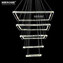 квадратные лестницы Скидка Светодиодный потолочный светильник Square Crystal 5 Светильники Crystal Square для отеля, прихожей, виллы для гостиной, столовой