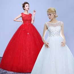 Wholesale Pretty Pictures Flowers - Pretty Sexy Maternity Wedding Dresses For Women Bride Exquisite Lace-up Floor-length Crystal Spaghetti Empire Dresses Plus Size Hot Selling