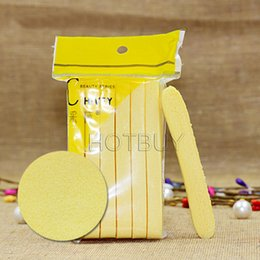 Wholesale Skin Care Face Cleansing - Yellow Skin Care Compressed Sponge Foam Mat Pad New Cleaning Wash Puff Sponge Stick Face Cleansing #4086