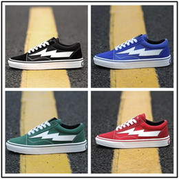 Wholesale Light Up Skateboards - 2017 New arrival Revenge X Storm old skool Classic black white red blue green light men and women Casual Shoes sneakers skateboard shoes