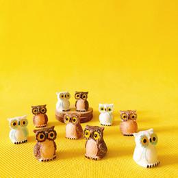 Wholesale Craft Owls - sale~20Pcs owls miniatures lovely animals fairy garden gnome moss terrarium decor crafts bonsai bottle garden table decor r007
