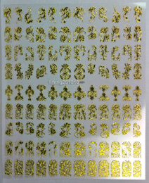 Wholesale Xl Large Nail Stamp - 108PCS High Quality Gold 3D Nail Art Stickers Decals For Nail Tips Decoration Tool Hot stamping Large Size XL J003