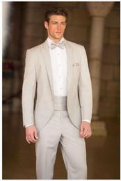 Wholesale Groom Handkerchief - 2016 High Quality Wedding Groom Suits For Men One Button Tuxedos Custom Made Custom Made (Jacket+Pants+Bow+Vest\Girdle+Handkerchief)