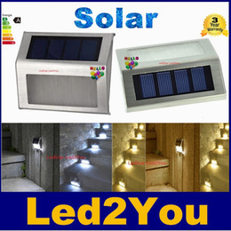 Wholesale Cheap Led Lamps - Solar Lights LED Lamps solar lights for garden IP44 2 Leds Outdoor Wall lightImported single crystal silicon solar panel cheap but reliable