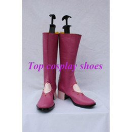 Wholesale Macross Frontier Anime - Wholesale-Freeshipping anime Macross frontier (MacrossF) Kuran kuran Patent Cosplay Boots shoes #GAI022