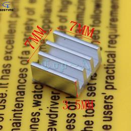 Wholesale Ram Graphics - Wholesale- 10 PCS Extruded Aluminum Heatsink 7mm x 7mm x 3.5mm Chip VGA RAM Graphics Card IC Radiator Cooler