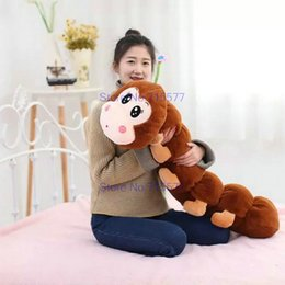 Wholesale Caterpillars Plush - 80cm 110cm New style Caterpillar Plush Toys Monkey Plush Cloth Doll Children's sleep pillow birthday gift