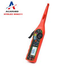 Wholesale Digital Multimeter Free - Digital Multimeter 2000Counts Pen Type with Non Contact HYELEC MS8211 ACV DCV Electric Handheld Tester Multitester Free shipping