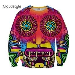 novelty hoodies for men Promo Codes - Wholesale-2016 New Fashion men  Skull Ice Zombie pullovers Funny 3d Hoodies Swatshirts for men palm RIP DIET Strawberry hoodieTop