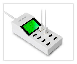 Wholesale Usb Port Devices - For iPhone7 EU US UK Plug 8 Ports LED Screen USB Charger Dock Wall EU Plug Mobile Phone Adapter For iPhone 5 6 iPad Samsung Charging Device