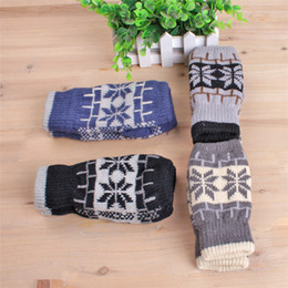 Wholesale Winter Gloves For Kids Wholesale - winter fingerless gloves for adults and kids children Mittens Girl Boy Kid Christmas gift Stretchy Knitted gloves cotton knitted gloves