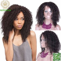 Wholesale Kinky Lace Front Wigs Stock - Kinky Curly Human Hair Lace Front Wigs Brazilian Human Hair Full Lace Wig Deep Curl Hair Glueless Lace Wig In Stock