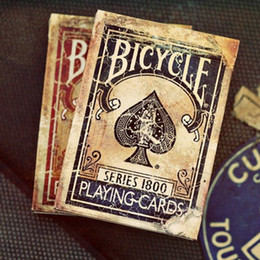 Wholesale Vintage Toy Collection - Bicycle Vintage Series 1800 Ellusionis Playing Cards Original Poker Cards For Magician Collection Card Game