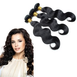 Wholesale Tipped Hair Body Wave - Brazilian human hair Body Wave Cheap Human Hair Weave Wavy Bundles 3pcs  lot Can Be Dyed and Bleached u-tip remy human hair extensions