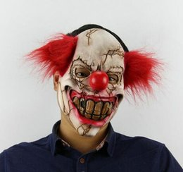 animal fancy dress accessories Coupons - Funny Party Cosplay New Evil Circus Clown Mask Pennywise Halloween Horror Party Joker Mask Fancy Dress Costume Accessory