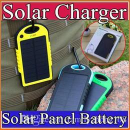 carregador solar banco laptop Desconto 5000 mAh Carregador de energia Solar e Bateria Painel Solar à prova d 'água à prova de choque à prova de poeira portátil banco de potência para Celular Celular ipone 7 B-YD
