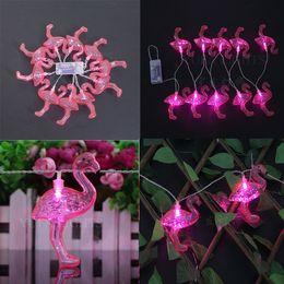 Wholesale New Arrivel Led Lights - New Arrivel Red Flamingo 10LED Bulbs String Light Battery LED Holiday Lighting LED Strings Home Party Decor