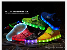 Wholesale Ups Trade - 2017 foreign trade of the new USB rechargeable LED colorful light shoes children's wings light shoes fluorescent flash shoes magic stic