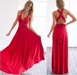 Wholesale More Dresses Evening - Fashion Europe and the United States more than wearing a sexy gorgeous multi rope bandage dress red dress EVENING dress Party women dresses