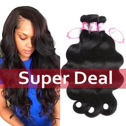 Wholesale Cheap 28 Inch Weave - Wholesale 8A Brazilian virgin hair bundles body wave 3 bundles Brazilian Human Hair weave cheap price body wave hair weave