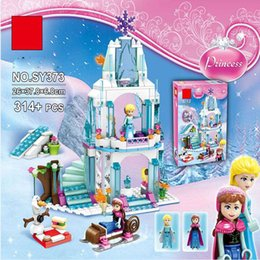 Wholesale Castle Toy For Girls - 2016 New arrive 38 cm Elsa Anna Olaf Castle Toys Classic Pretend Play Furniture Learning Education Cut Adorable Gift for Kids
