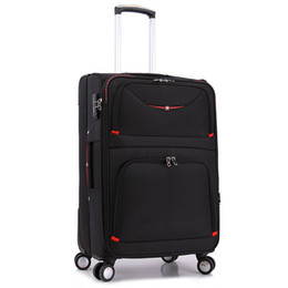Wholesale Swiss Army Knife Bags - Wholesale-20 24 28inches Swiss Army knife trolley bags women travel men hand luggage rod box fashion waterproof Oxford cloth suitcase bag