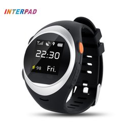 Wholesale Gps Elderly Watch - Wholesale- Interpad GPS Tracking Smart Watch Elderly Anti-lost Wrist Watch Cellphone Support SIM Card Pedometer Smartwatch For Android IOS