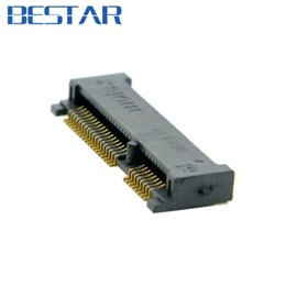 Wholesale Receptacle Socket - Wholesale- Mini PCI-E pci express pcie mSATA 52pin 4.0mm Height Receptacle female socket connector adapter Board Mount SMT for SSD